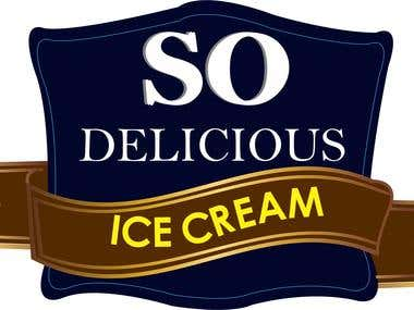 SO DELICIOUS ICE-CREAM - LOGO DESIGN
