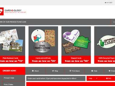CARD-E-OLOGY -- PHP Website