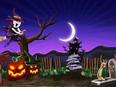 Contest Winner 3D modelling for Halloween banner