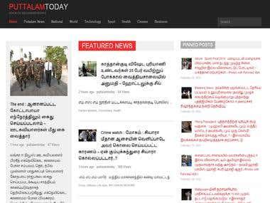 Puttalam Today Wordpress News  Site