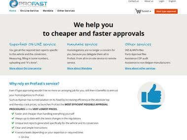 ProFast.Pro - Homologation platform