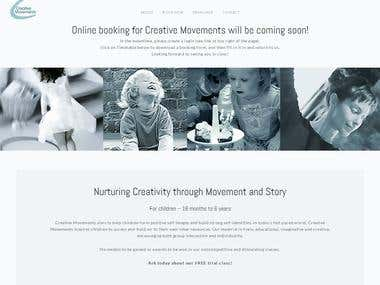 Creative Movements - A fully responsive website