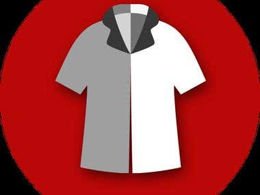 Cloth Store Management System icons set