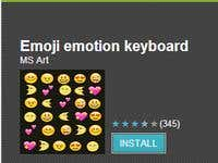 Emoji emotion keyboard