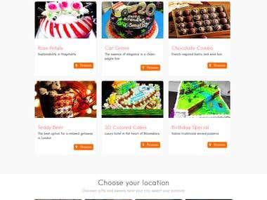 Website for online gift store