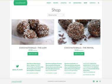 WordPress Blog Theme + WooCommerce