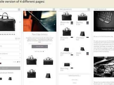 Responsive Shopify Theme Redesign: Troubadour
