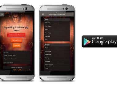 Mobile App - Fantasy Insult Generator HTML-based
