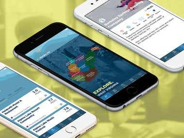Mobile App - Wild, Wonderful West Virginia State Tourism App