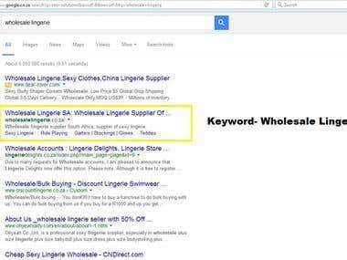 Keyword #1 On Google