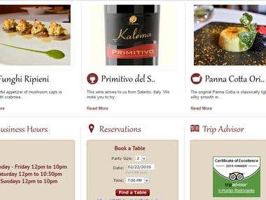 Online restaurant reservation and booking portal