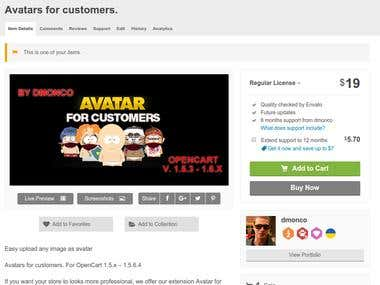 Avatars for customers.