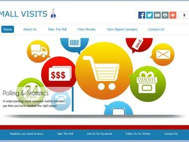 A website done for tracking mall visitors