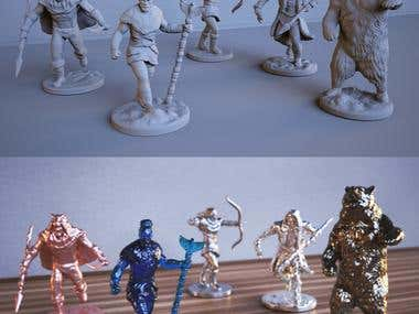 3D sculpting of Miniatures for 3d printing