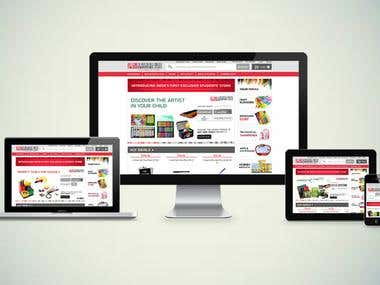 Magento Powered eCommerce Website