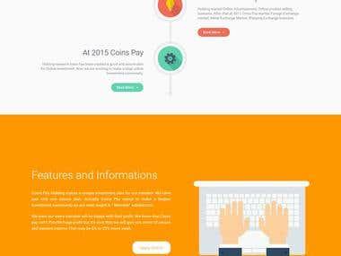 Custom webiste -Coinspay