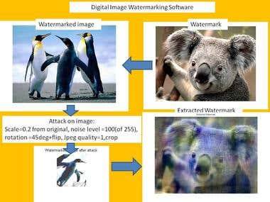 Digital Images Watermarking Software