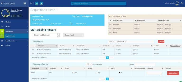 PHP -MySQL Travel desk management software | Freelancer