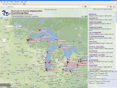 Great Lakes & Seaway Shipping Online Passage Maps