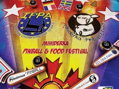 Pinball tournament poster