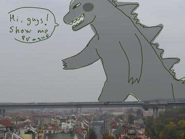 godzilla in prague