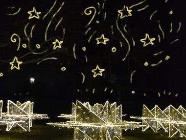 stars alighted