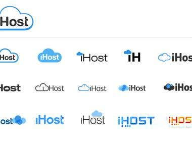 ihost logo design process