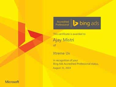 Bing Ads Accredited Professional Certification