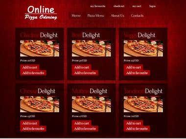 Online pizza odering app