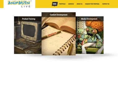 Best Animation Multimedia website in Angular JS