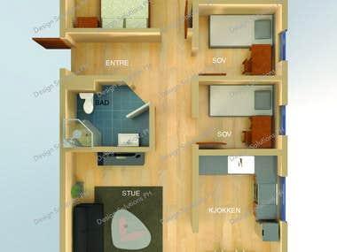 Sample 3D Floor Plans