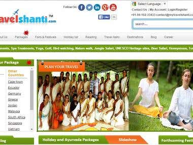 Travel shanti - Tour & Travels website