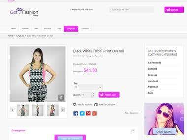 eCommerce Design Developing