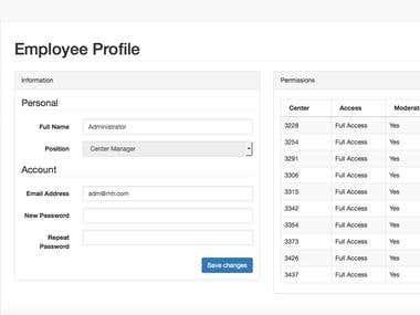 RiskFactor DCA Profile/Permissions