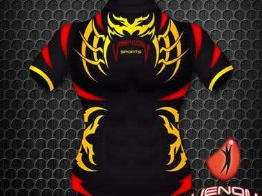 Rugby Jersey Design for Venom Sports Australia