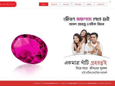 Website of Gems & Jewels Merchant