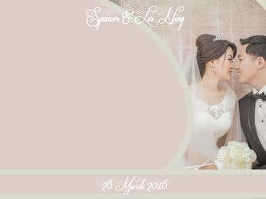 Wedding print layout