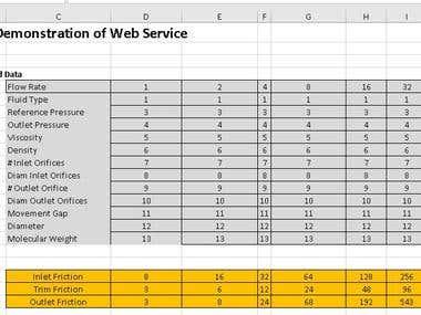 Ms Excel & web services