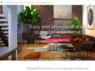 Responsive interiors and home decor website