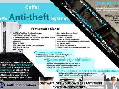 Brochure for a GPS Anti-theft System