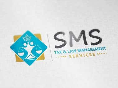 Design a Logo for SMS Tax & Law Management Services