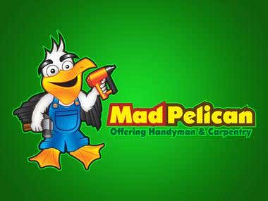 Mad Pelican Mascot Design