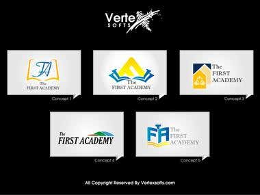 First Academy Logo Sheet