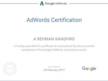 Iam Certified Google Adwords Partner