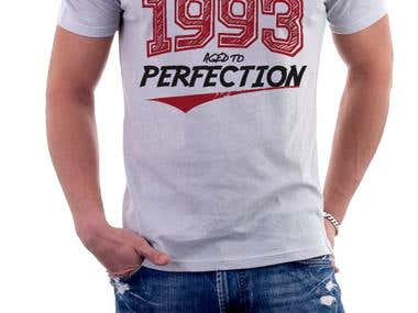 T-shirt Design for Made in 1993 Aged to Perfection