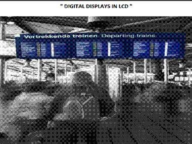 TFT display for train station