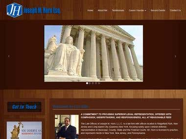 Responsive website - The Law Offices of Joseph M. Horn, L.L.