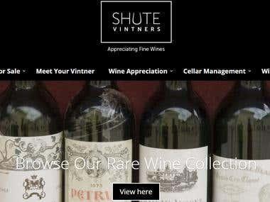 Ecommerce website  Australia(http://shutevintners.com.au/)