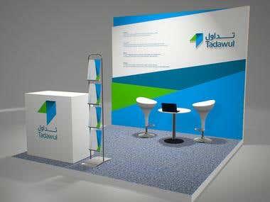 Tadawul stand design, in Rijadh