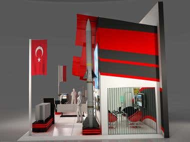 Rocketsan exhibition stand design
